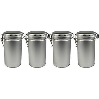 Amazon Com Steel Loose Leaf Tea And Spice Tin Round