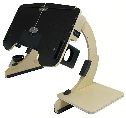 Foldable Adjustable Desk Laptop Bed Tray Notebook Stand Reading and Breakfast Tray Computer Table (Black)