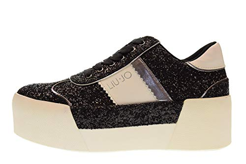 avec Black 01 Jo UP Femme Maxi B68013 Baskets Chaussures TX007 Plateforme Liu Lace qFaSwxIZS