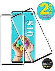 Galaxy S10 Panzerglas Schutzfolie, [2 Stück] Hohe Qualität Gehärtetem Glass [Fingerabdrucksensor Kompatible] [Kamera Schutzfolie] [HD Clear] [9H Härte] Panzerglasfolie für Samsung Galaxy S10