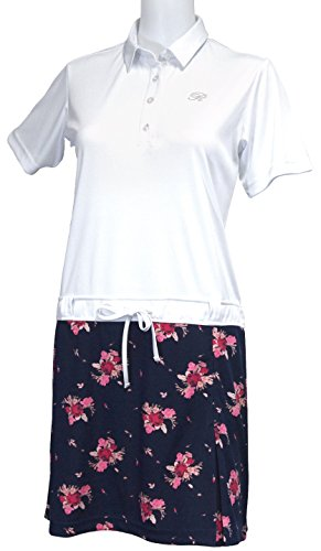 許可するファブリック非公式花柄半袖台襟ワンピース 2018年春夏モデル
