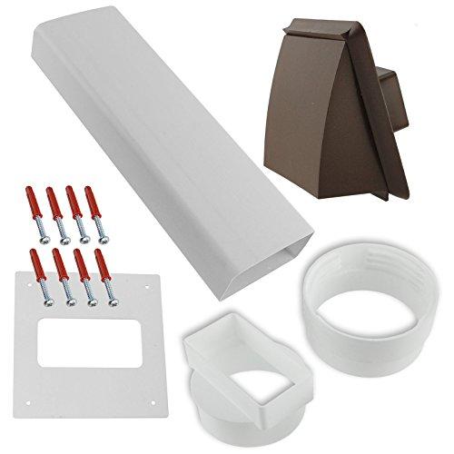 Pvc Cowl Vent - Spares2go PVC External Wall Vent Cowl Kit for Gorenje Vented Tumble Dryers (Brown)