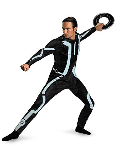 Disguise Men's Disney Tron Legacy Movie Deluxe Costume, Black/Aqua, X-Large]()