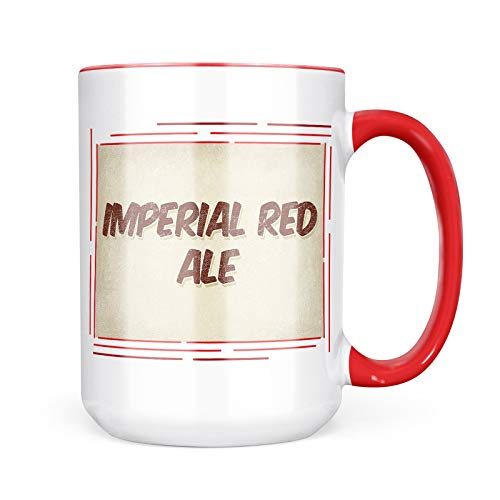 Neonblond Custom Coffee Mug Imperial Red Ale Beer, Vintage style 15oz Personalized Name