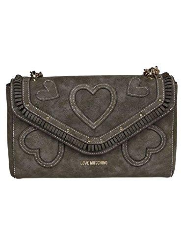 Love Moschino Borsa A Spalla Donna JC4106PP14LP0001 Pelle Grigio