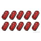 PEAKTOW PTL0221 Double Bullseye Red LED Clearance Marker Taillight Brake Stop Lights 10PK