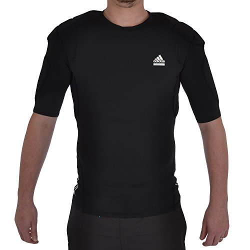 adidas Performance Techfit Mens Padded Rugby Top - Black - XL