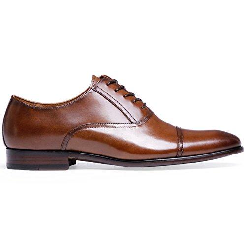 Business Pointu Derby Bout Robe RENHONG en à Cuir Marron Chaussures Oxford Noire Homme Mariée Lacets Toe pour Brown à Maroquinerie zRqUAwz