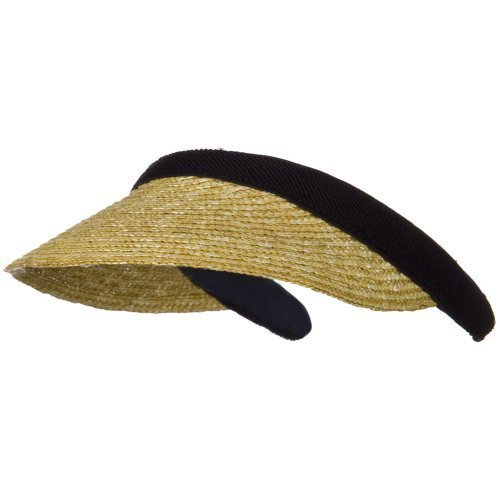 UPC 609595166223, Sewn Braid Straw Clip On Visor - Natural OSFM