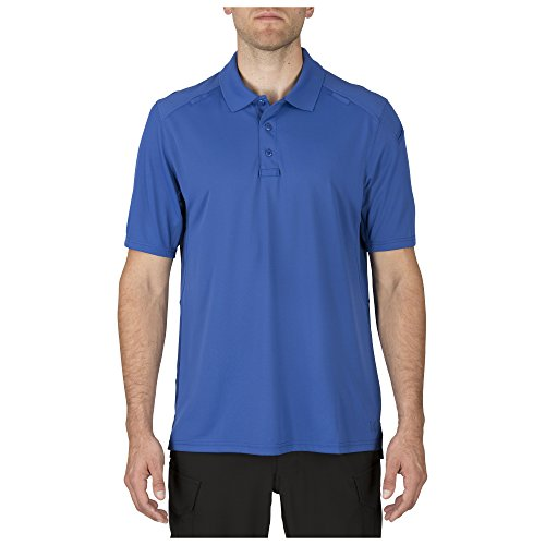 5.11 Men's Helios Short Sleeve Polo Shirt, Academy Blue, ()