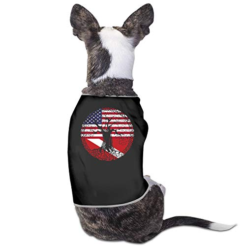 American Heart Dive Flag Roots Small Dog Cat Vest Pet Sleeveless Tee Shirt Jacket Sweater ()