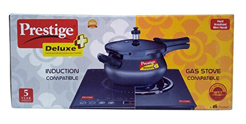 Prestige Deluxe Plus Hard Anodized Handi Pressure Cooker, 3.3 litres