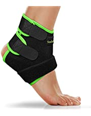 SaniVerde® Enkelbandage, instelbare enkelbandage, flexibele voetbandage, ultradunne enkelsteun, hardlopen, voetbal, rechter- en linkerenkel