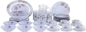 Luminarc Glass Malva Violet Dinner Set - 38 + 7 Pieces,Purple