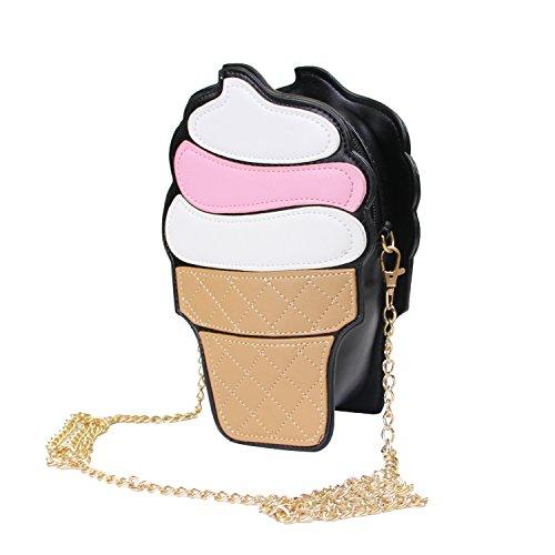Forme Main bandoulière Rigolo Gâteau pour Cupcake filles De En Sac Crème Rose Glacée LUI SUI A Blanc les Sac 0HAffq