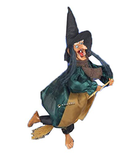 (George Jimmy Halloween Decorative Props Bar/Haunted House Decor Flying Witch)