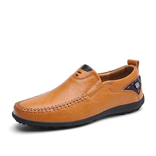 Handmade Genuine Leather Men Casual Shoes Luxury Brand for sale  Delivered anywhere in USA