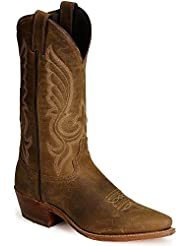 Abilene Mens Distressed Leather Cowboy Boot Snip Toe - 6436