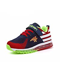Zarbrina Boys Girls Sneakers Air Cushion Kids Running Waterproof Outdoor Athletic Tennis Shoes(Little Kid/Big Kid)
