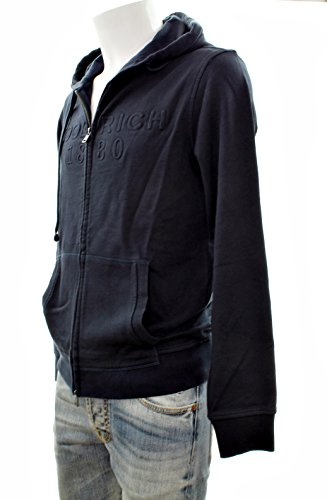 Regular 100 Navy Woolrich Hoodie Zip Blu Felpa E Fz 300a cotone Cappuccio Fit Wofel1078 Logo wwFPZq