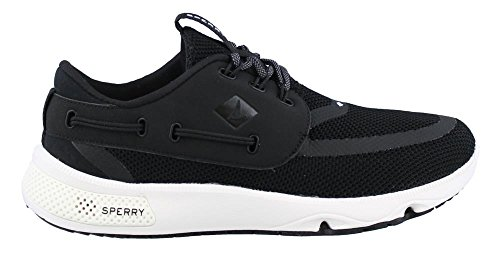 Sperry Top-Sider Women's 7 Seas 3-Eye Boating Shoe, Black, 6 M US