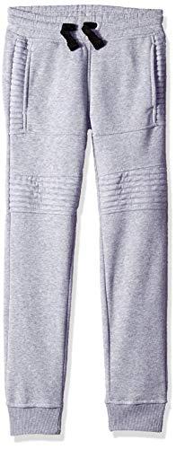 Southpole - Kids Big Boys Active Basic Jogger Fleece Pants, Heather Grey Biker, X-Large (Fleece Pants Jog)