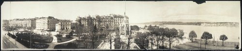 (HistoricalFindings Photo: 1909 Panoramic: Lake Geneva & Monument of Duke of)
