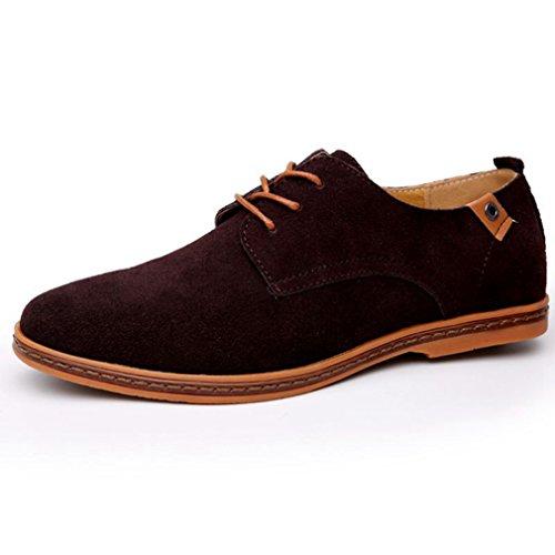 Cordones Feidaeu Planos marrón Zapatos con Hombre aSAqvtw