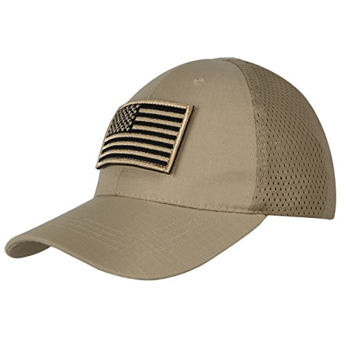 xhorizon TM FL1 Men Mesh Tactical Cap Sport Baseball Military Camouflage  Sun Hat Cap with USA 52d34bc7a97