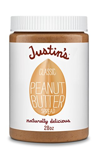 Classic Peanut Butter by Justin's, Only Two Ingredients, No Stir, Gluten-free, Non-GMO, Responsibly Sourced, 28oz Jar by Justin's Nut Butter