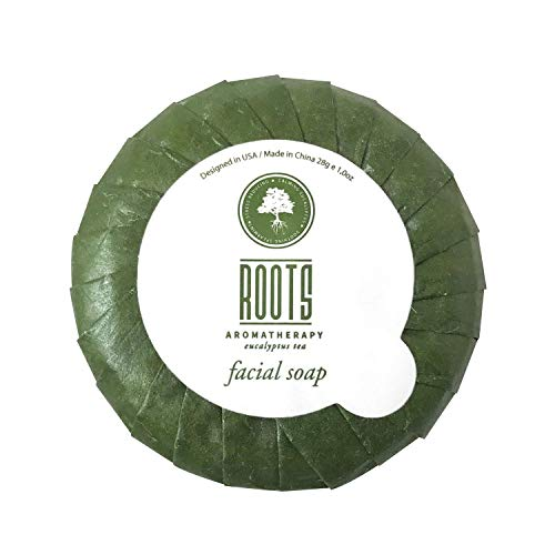 Roots Aromatherapy - Facial Soap 1oz/28g Bulk Pack (Eucalyptus Tea fragrance) for Travel, Hotels, Motels, Lodging, and Bed and Breakfast (30 pack)