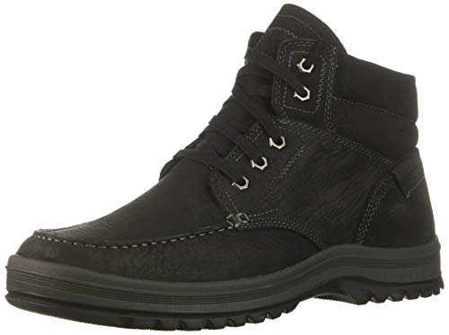(Rockport Men's World Explorer Moc Toe Boot, black, 8 W US)