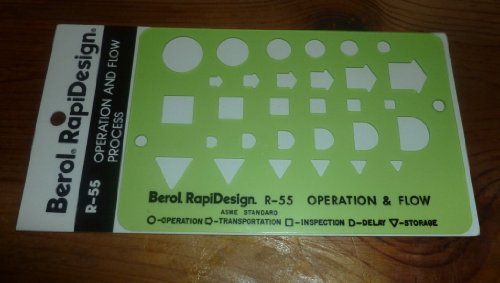 Berol(R) RapiDesign(R), R-55, Operation and Flow Process, 5 1/8