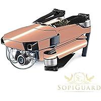 SopiGuard Chrome Rose Gold Precision Edge-to-Edge Coverage Vinyl Skin Controller Battery Wrap for DJI Mavic Pro