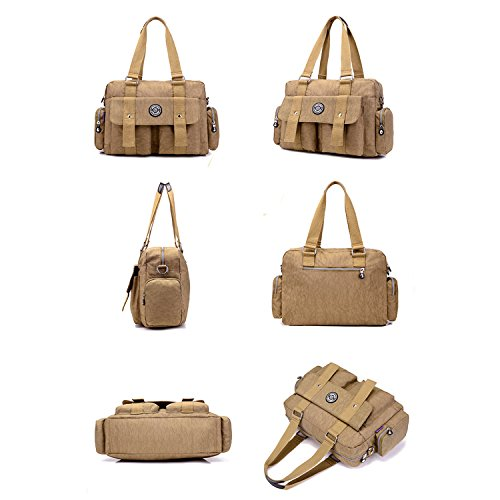 Bookbags for Satchel Beige Bag Shoulder Body Bag Handbag Bag Ladies Messenger Fashion Women Cross Waterproof Lightweight MeCooler ZqwnOCaxZ