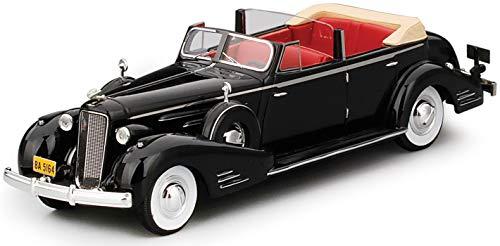 Miniature Authentic - TrueScale Miniatures-TSMCE164310-Vehicle Miniature-Cadillac V16Convertible Sedan 1936-Scale 1/43Black