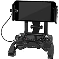 ALLCACA Tablet Extended Front Holder Adjustable Phone Mount Practical Bracket for DJI Mavic Pro Drone and DJI Spark Drone, Fits for 4.6 to 12 Cell Phones or Tablets, Black