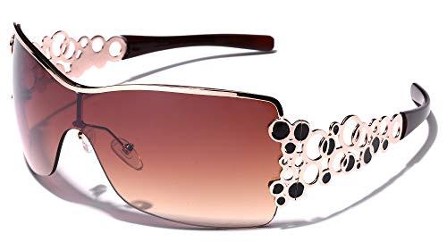 - Oversized Women's Fashion Aviator Shield Sunglasses
