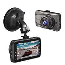 AKASO D2000 Dash Cam FHD 1080P 3 Inch LCD 170 Degree Wide Angle Dashboard Camera for Cars with G-Sensor, WDR, Loop Recording