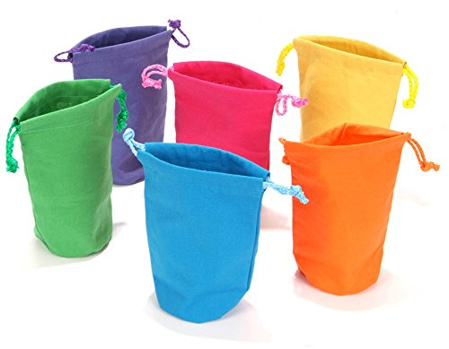 Dozen Bright Color Canvas Drawstring