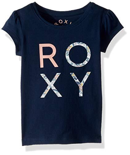 Roxy Baby Girl - Roxy Girls' Toddler Moid Short Sleeve T-Shirt, Dress Blues, 2