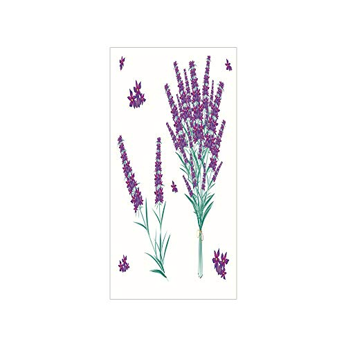 3D Decorative Film Privacy Window Film No Glue,Lavender,Aromatic Blossoms Bouquet from Provence France Fragrant Herbal Flora Decorative,Purple Magenta Teal,for Home&Office
