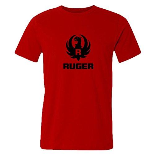 Lianfa Men's T Shirts Ruger Logo Round Neck Short Sleeve Tee Shirts