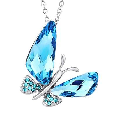 Buy ananth jewels swarovski elements blue crystal butterfly pendant ananth jewels swarovski elements blue crystal butterfly pendant for women aloadofball Images
