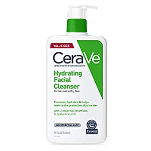 CeraVe Hydrating Facial Cleanser | Moisturizing Non-Foaming Face Wash with Hyaluronic Acid, Ceramides & Glycerin | 19…