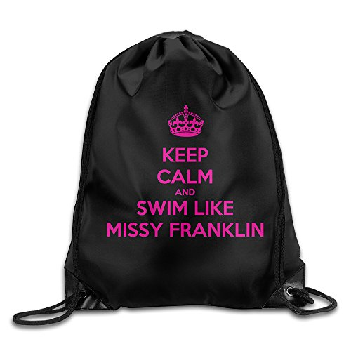 YYHU Keep Calm And Swim Like Missy Franklin Training Gymsack - Great For Travel And Everyday Life