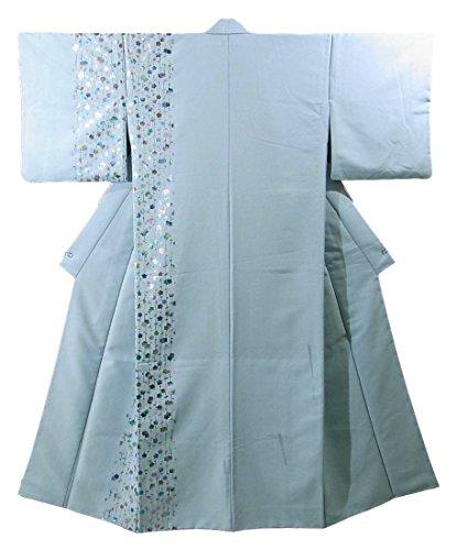 結果結婚した拮抗リサイクル 着物 踊り用 胴抜き仕立て 梅の花模様 裄67cm 身丈159cm ポリエステル