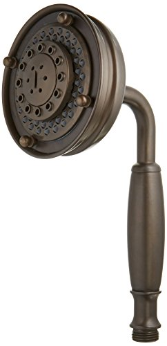 - Rohl 1151/8TCB Three Function Five Jet Straight Classic Handshower with All Metal Brass Handle and Flow Restrictor, Tuscan Brass