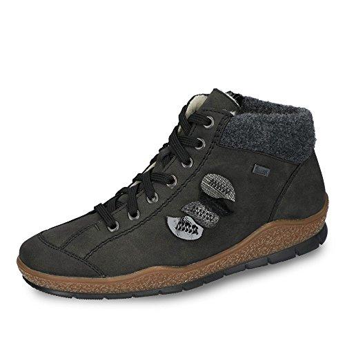 Women Ankle anthrazit sc grau grey 45 L6904 schwarz Rieker Boots wgd5Fwq