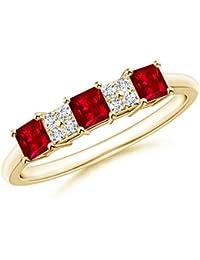 Angara Emerald-Cut Tanzanite Statement Ring in Platinum L7UIQ0I5Hu